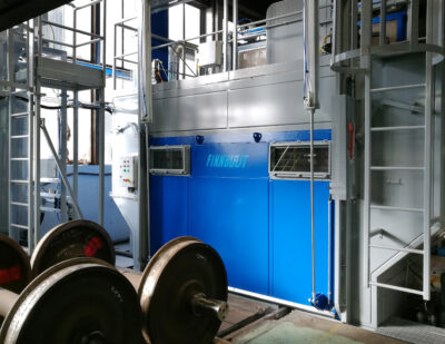 Finnblast Blast Cleaning Machines for Wheelsets