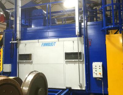 Finnblast Automated blast cleaning of wheelsets