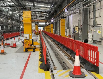 Servicing Capacity at Devon Rail Depot Given a Lift