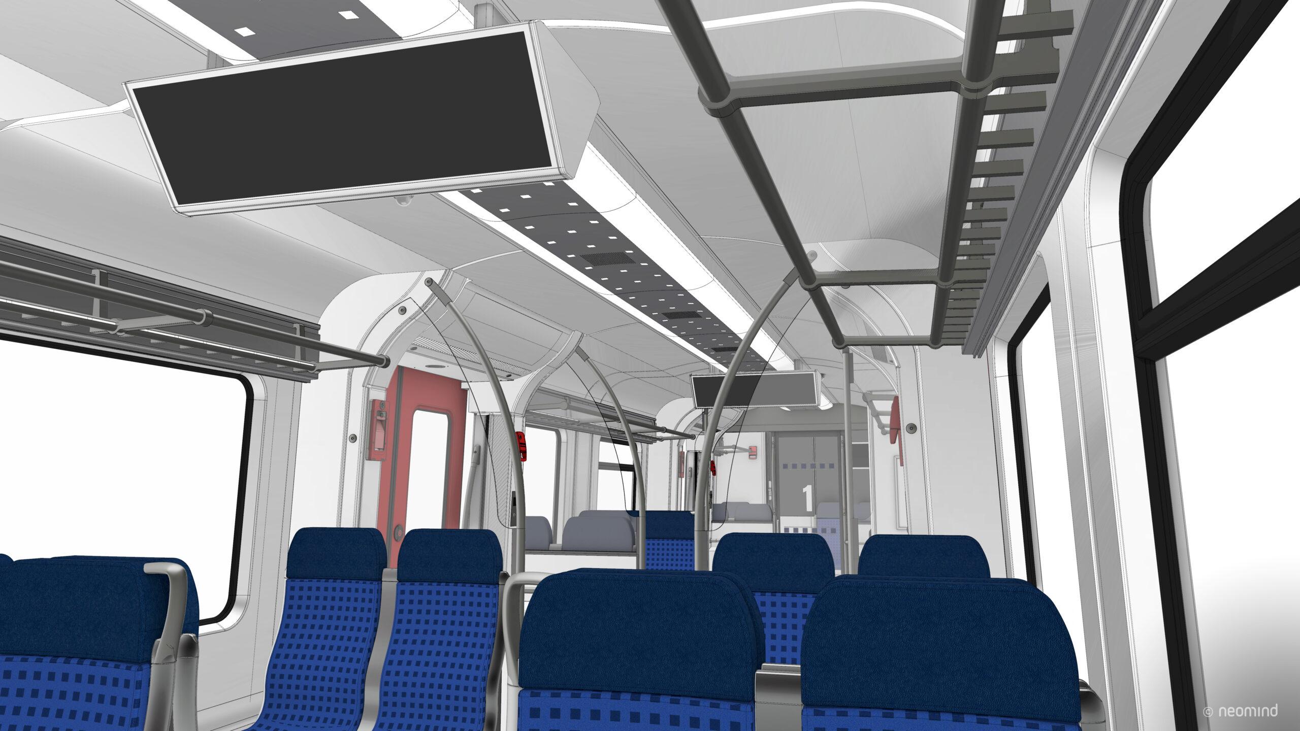 Rendering of the new S-Bahn Stuttgart interior