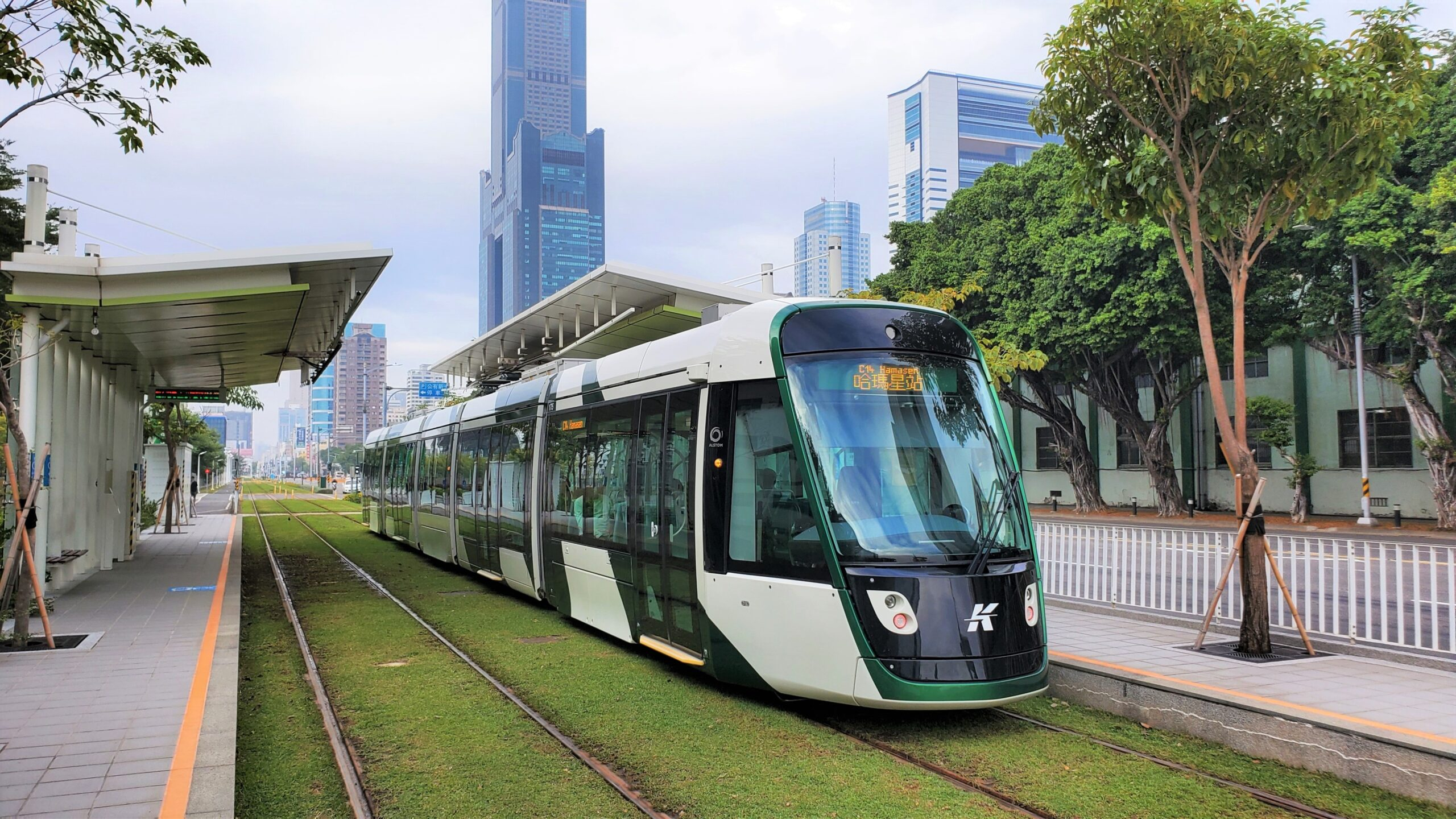 Alstom Citadis X05 tram in Kaohsiung, Taiwan