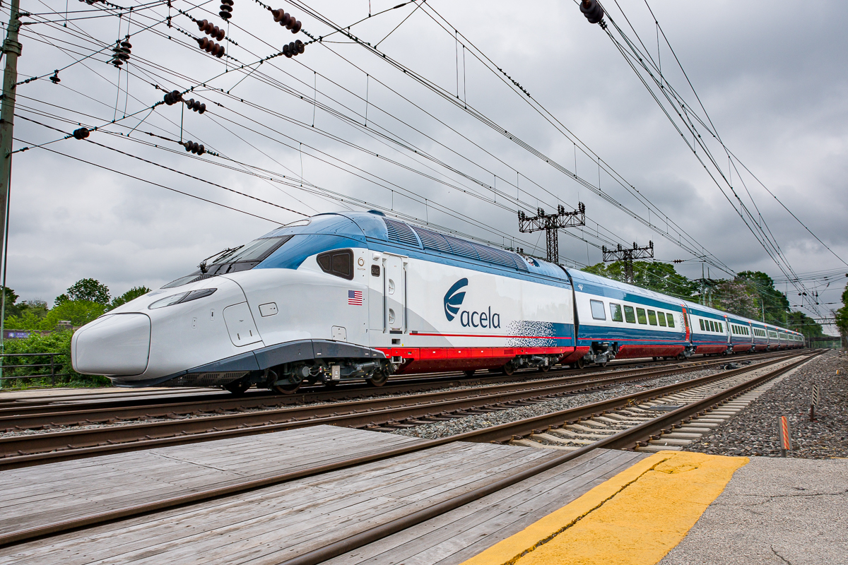 2nd test run of pre-production Amtrak Acela II on the PH Line