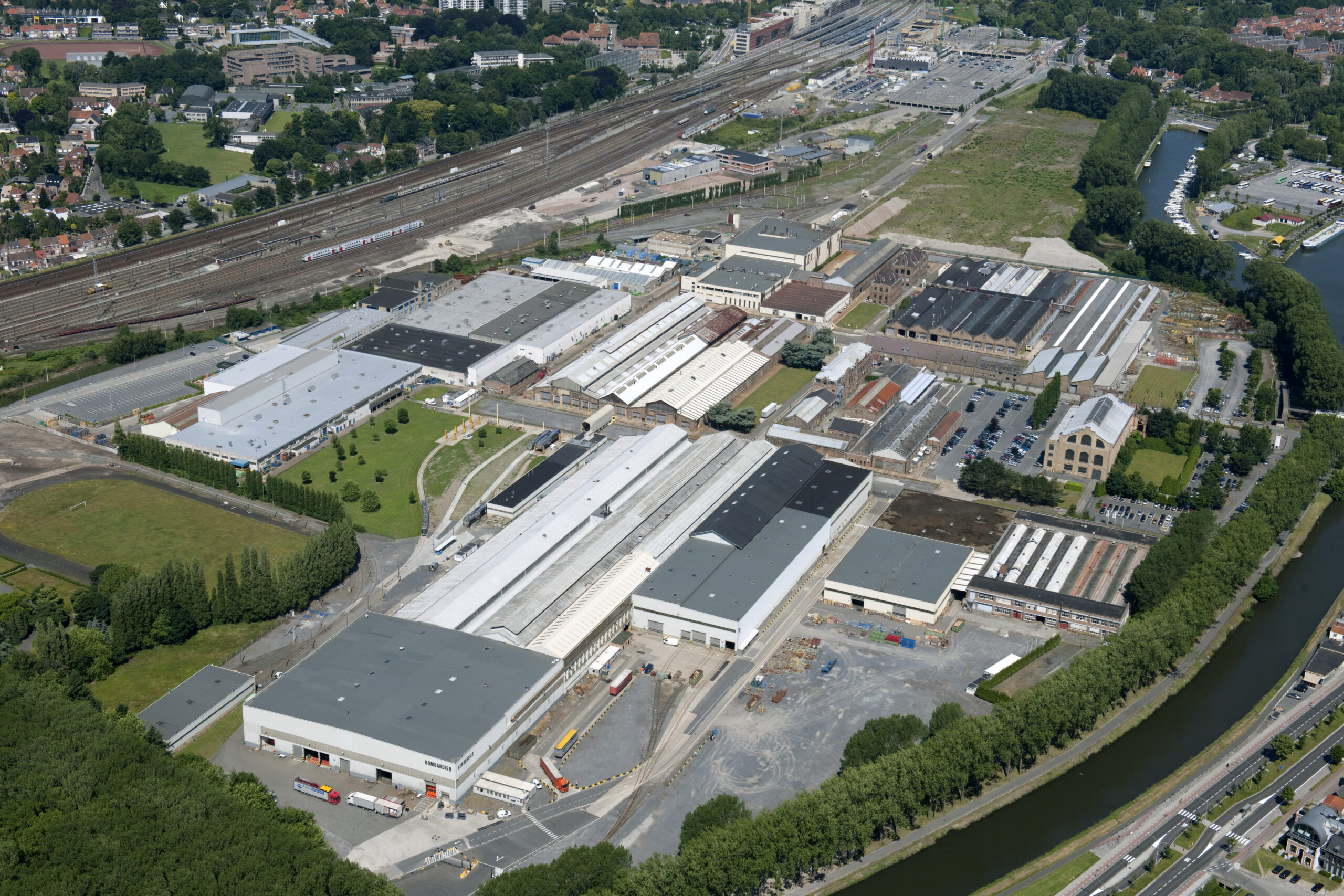 Bombardier facility in Bruges