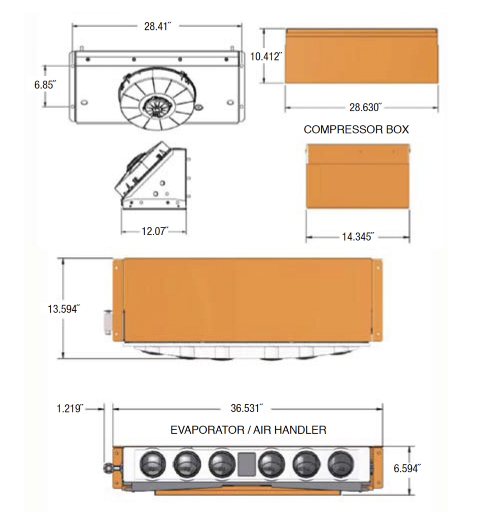 INPS Group Orange Locomotive A/C System