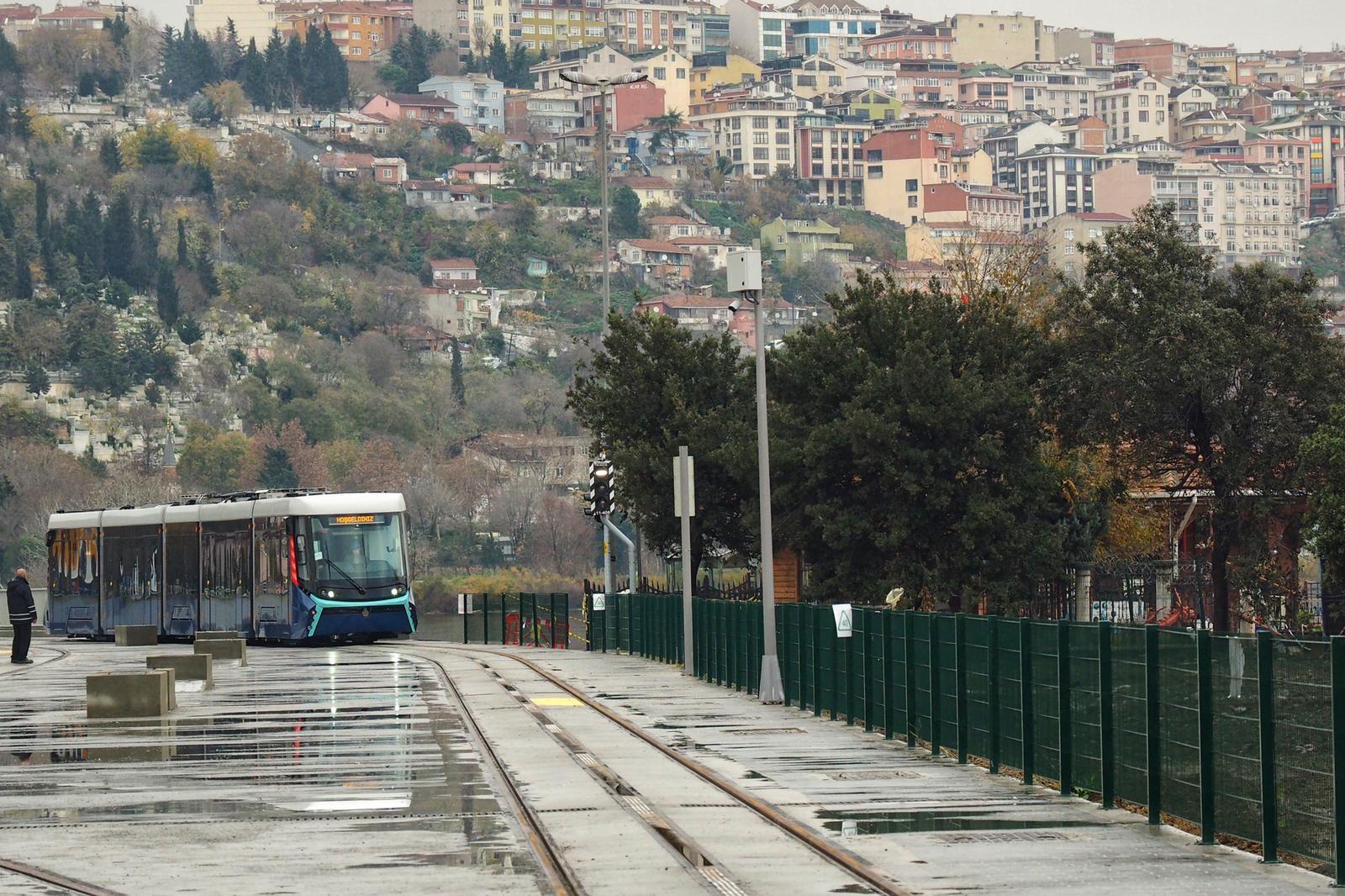 The Eminonu-Alibeykoy tramway in Istanbul, Turkey