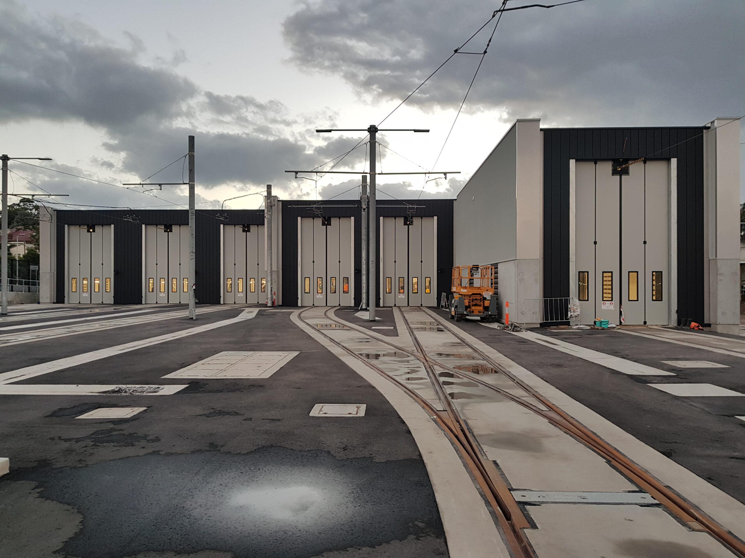 Lilyfield Maintenance Depot – Sydney Light Rail – 6 sets of our Swift-SEW bi-folding doors – 2019