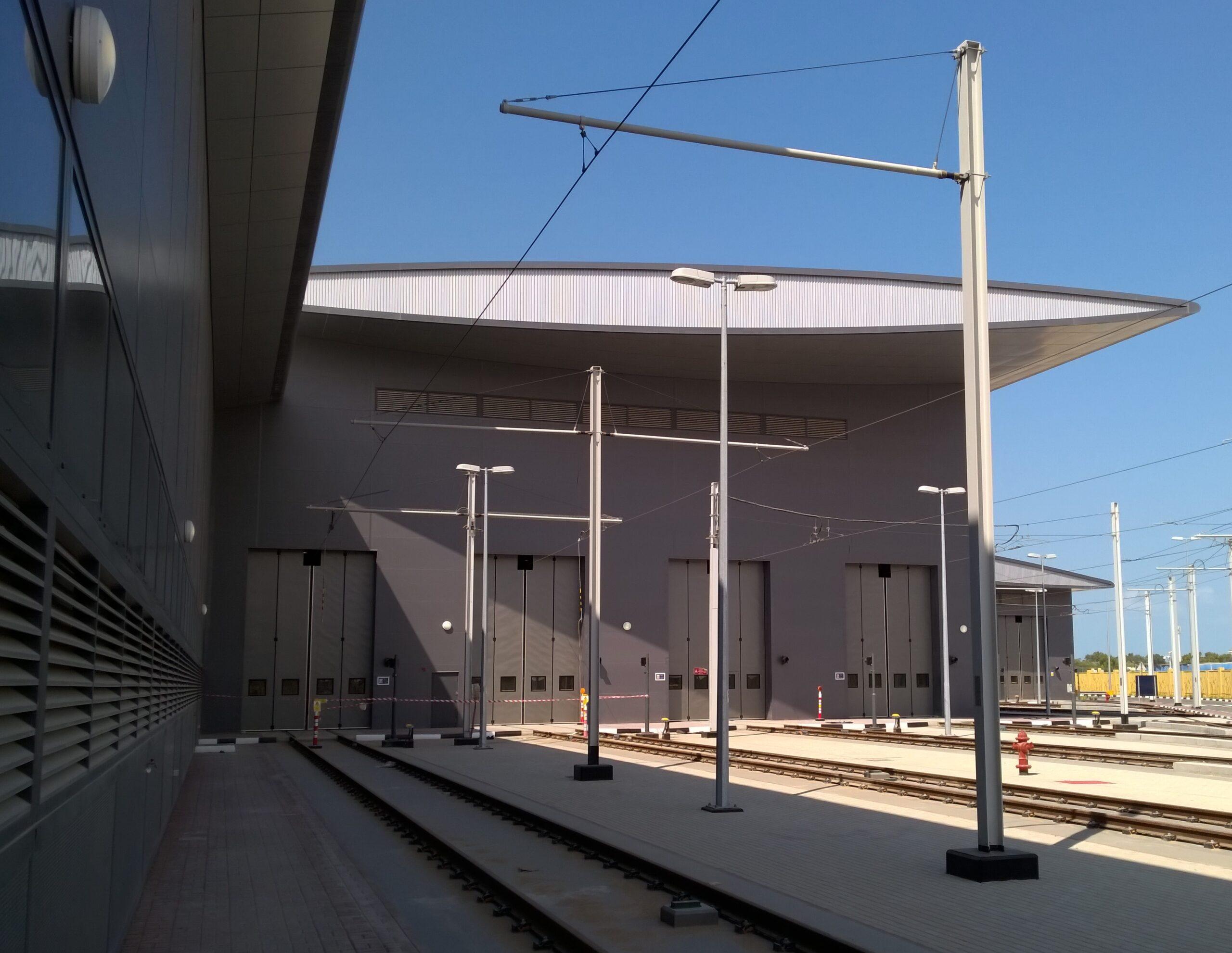 Al Suffouh Tram Depot (Dubai Tram) – 20 sets of our Swift-SEW electric bi-folding doors - 2014