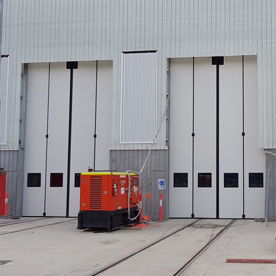 Canberra Metro Depot, Oz – 4 sets of our Swift-SEW electrically operated doors - 2018