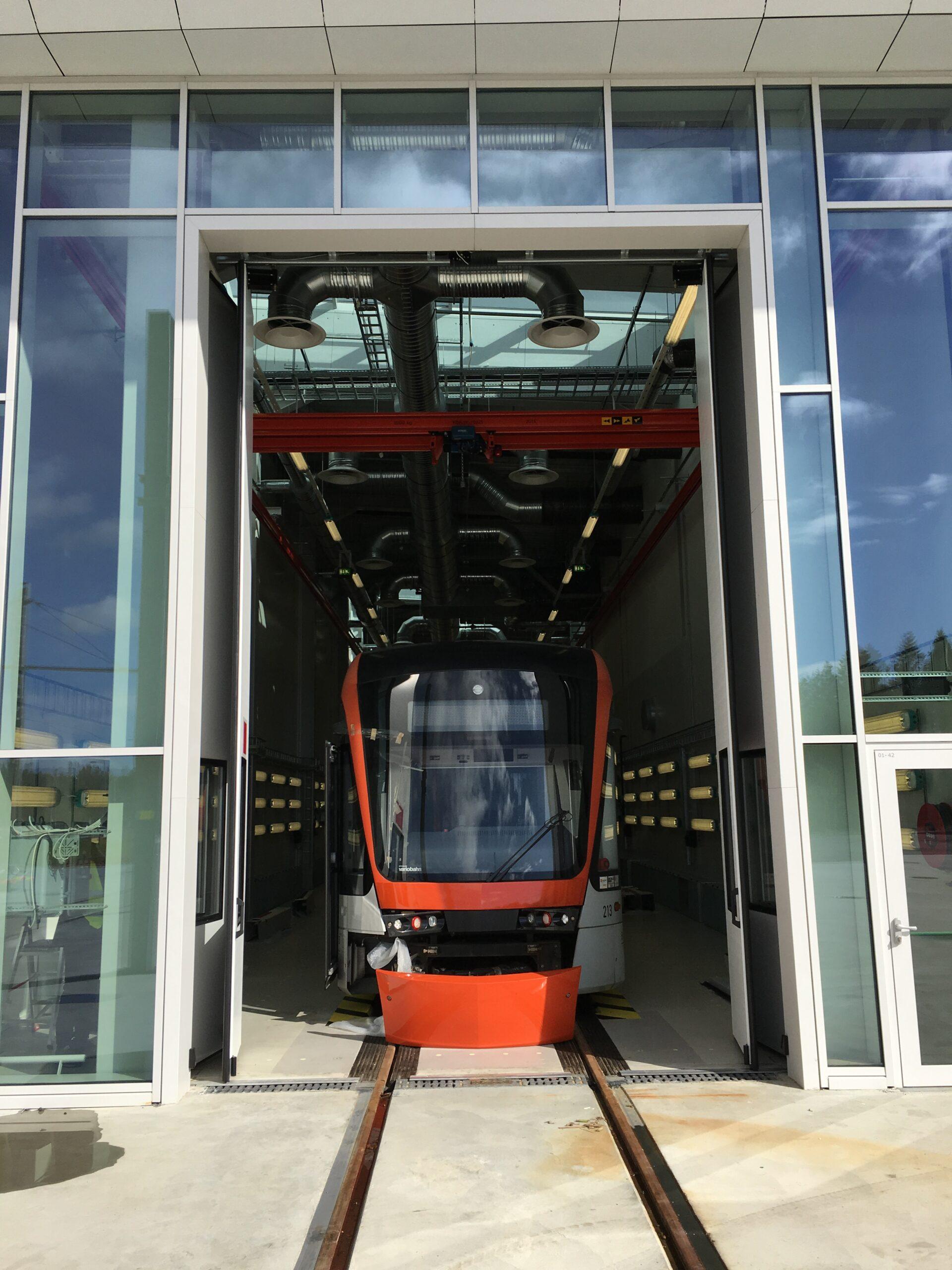 Bergen Tram, Norway – 25 sets of our Swift-SEW electric bi-folding doors