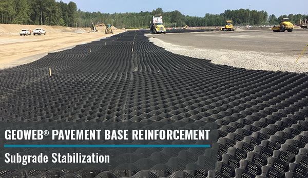 GEOWEB® 3D Geocells for Pavement Base Reinforcement