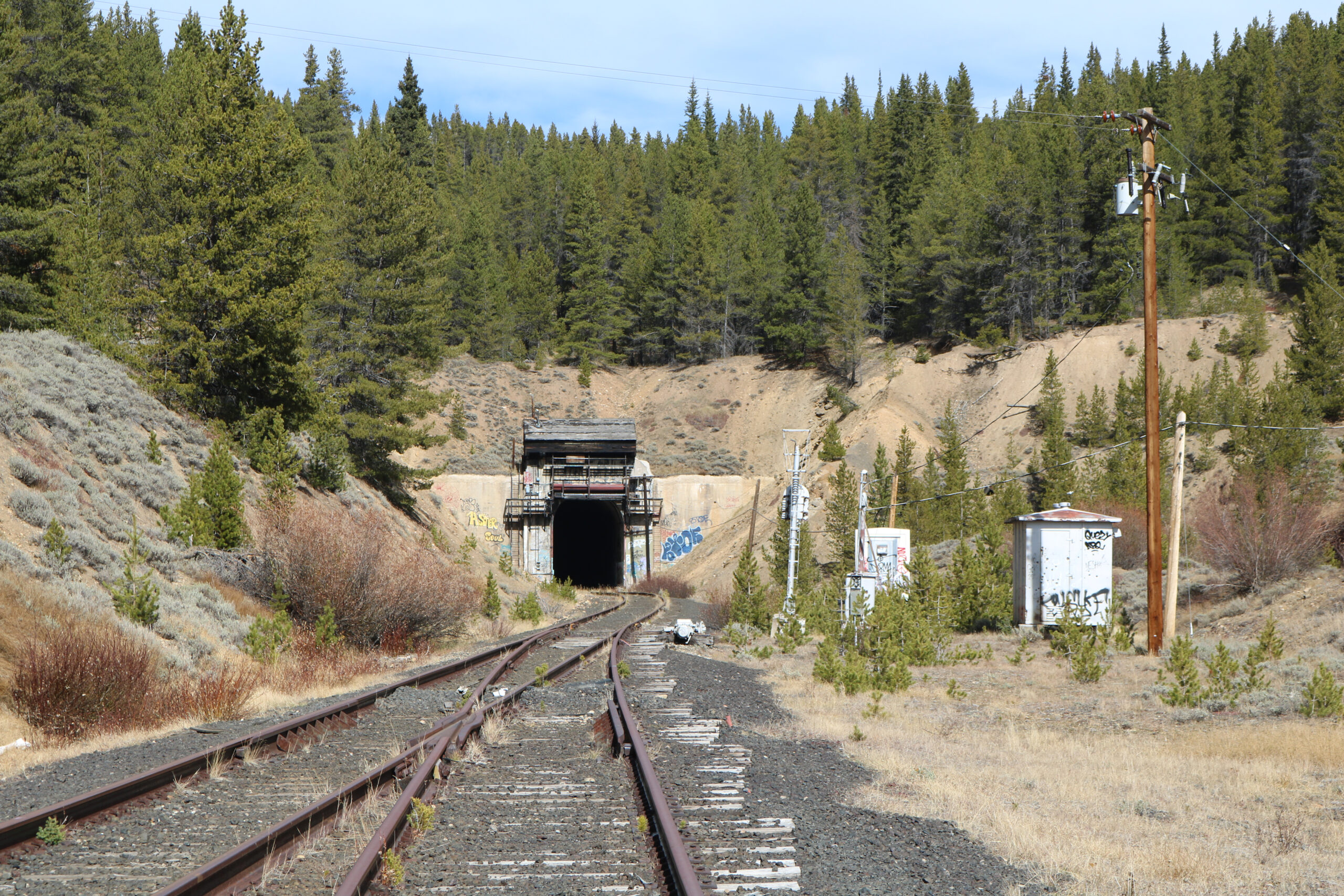 Rail tunnel at Tennessee Pass, Colorado