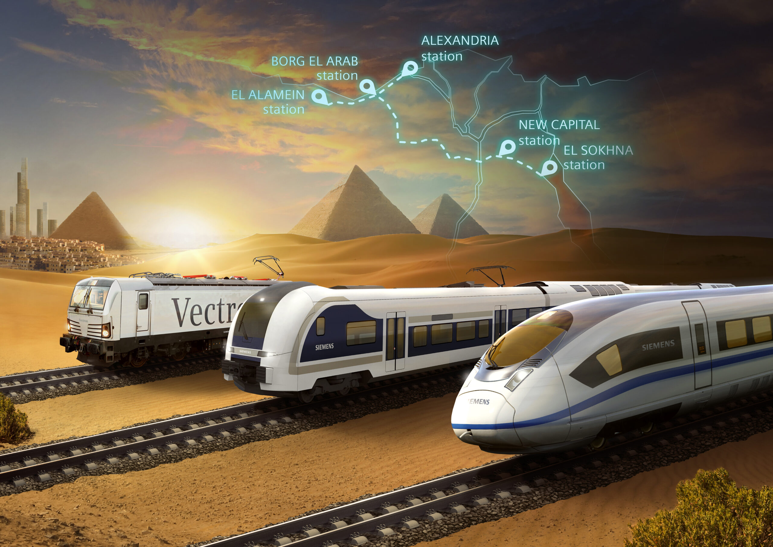 Siemens Mobility to install a high-speed rail network in Egypt