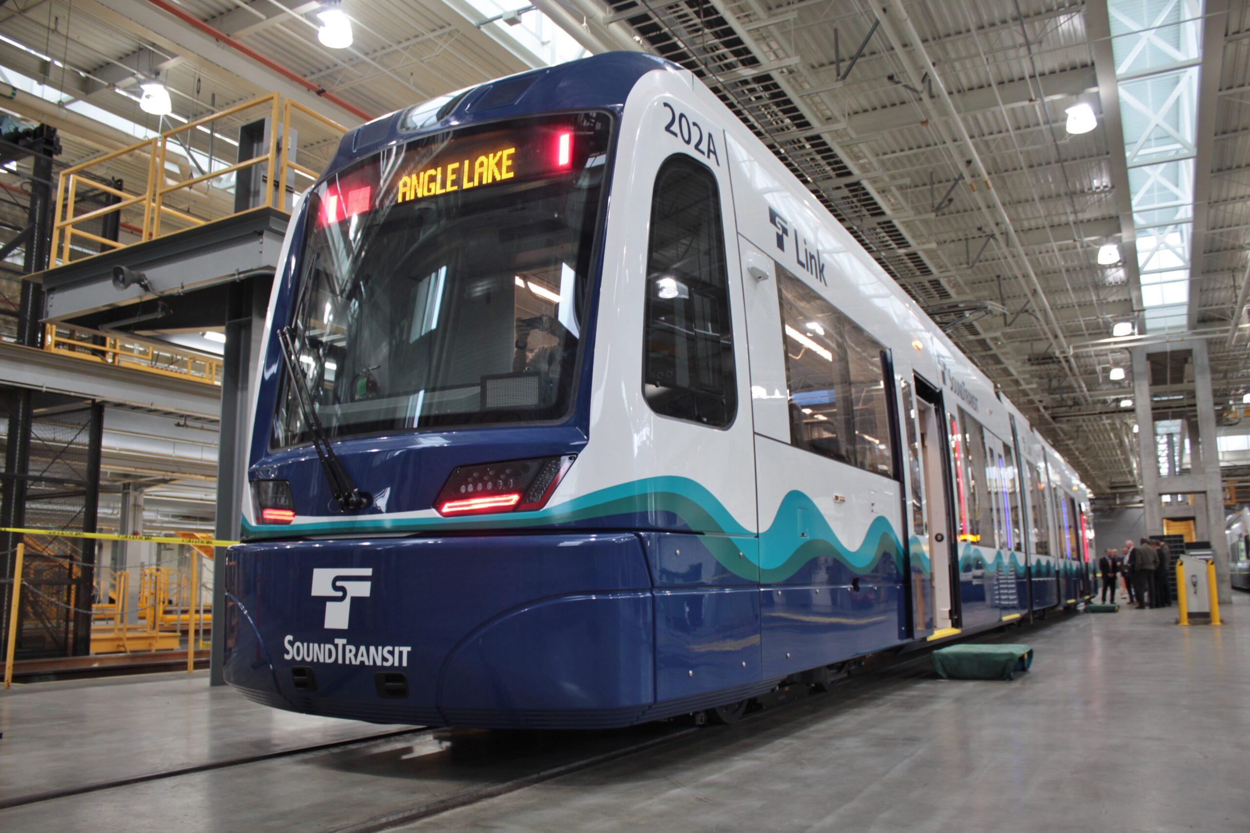 A Siemens S700 light rail vehicle for Sound Transit, Seattle