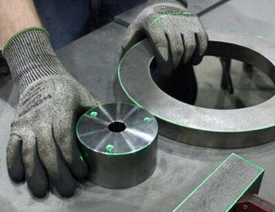 Virtek Vision welded tooling with lasers