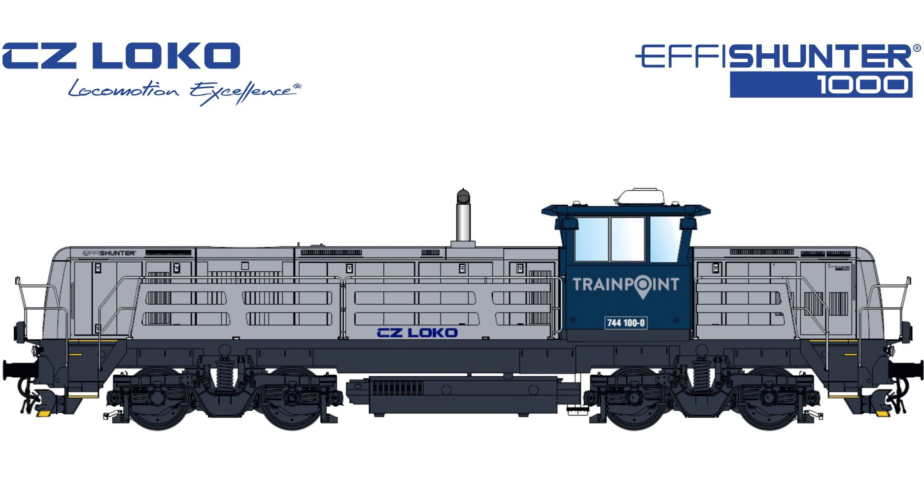 CZ LOKO EffiShunter 1000 in Trainpoint Norway livery