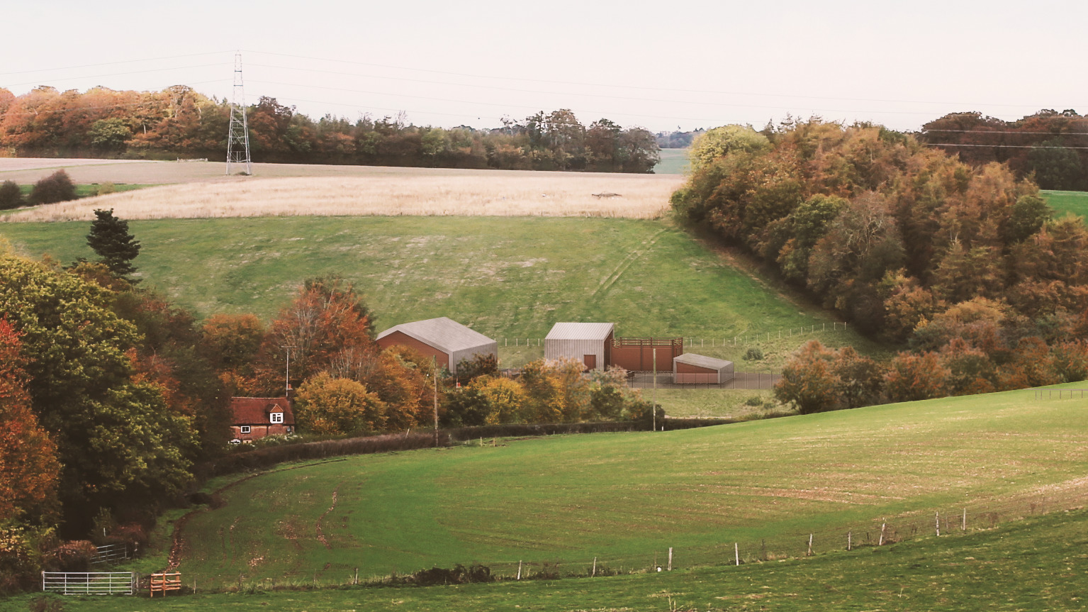 Chalfont St Giles headhouse for HS2 Chiltern tunnel
