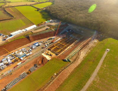HS2 Warwickshire Site Prepared for Launch of Tunnel Boring Machine