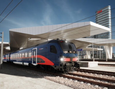 OEBB and Siemens Unveil Exterior Design of New Nightjet
