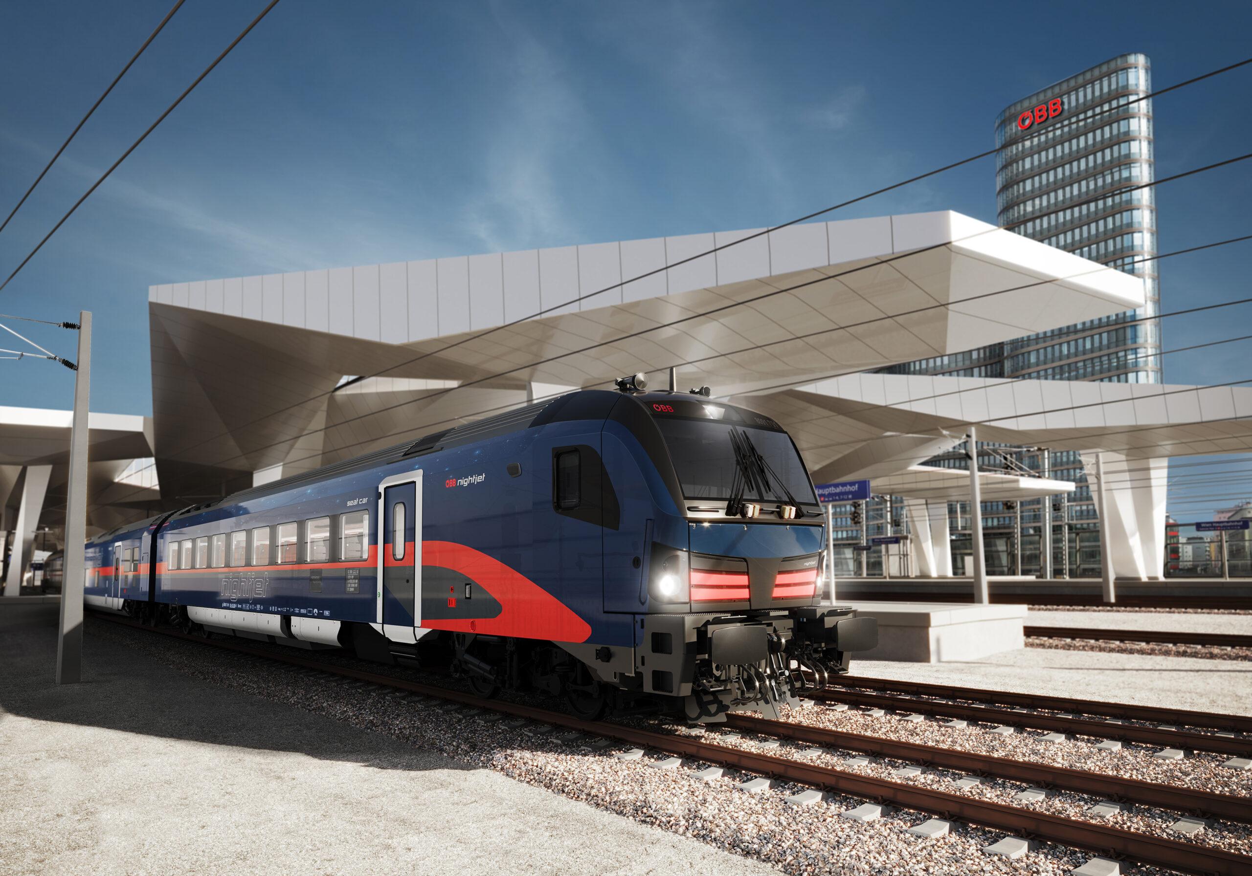 Austrian Federal Railways Nightjet train