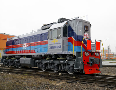 TMH Ships Two Shunting Locomotives to Mongolia