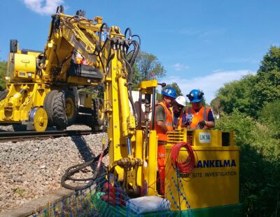 Lankelma UK14 Excavator Mounted Rail Unit