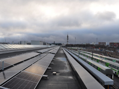 Train Maintenance with Electricity from Solar Power Plant