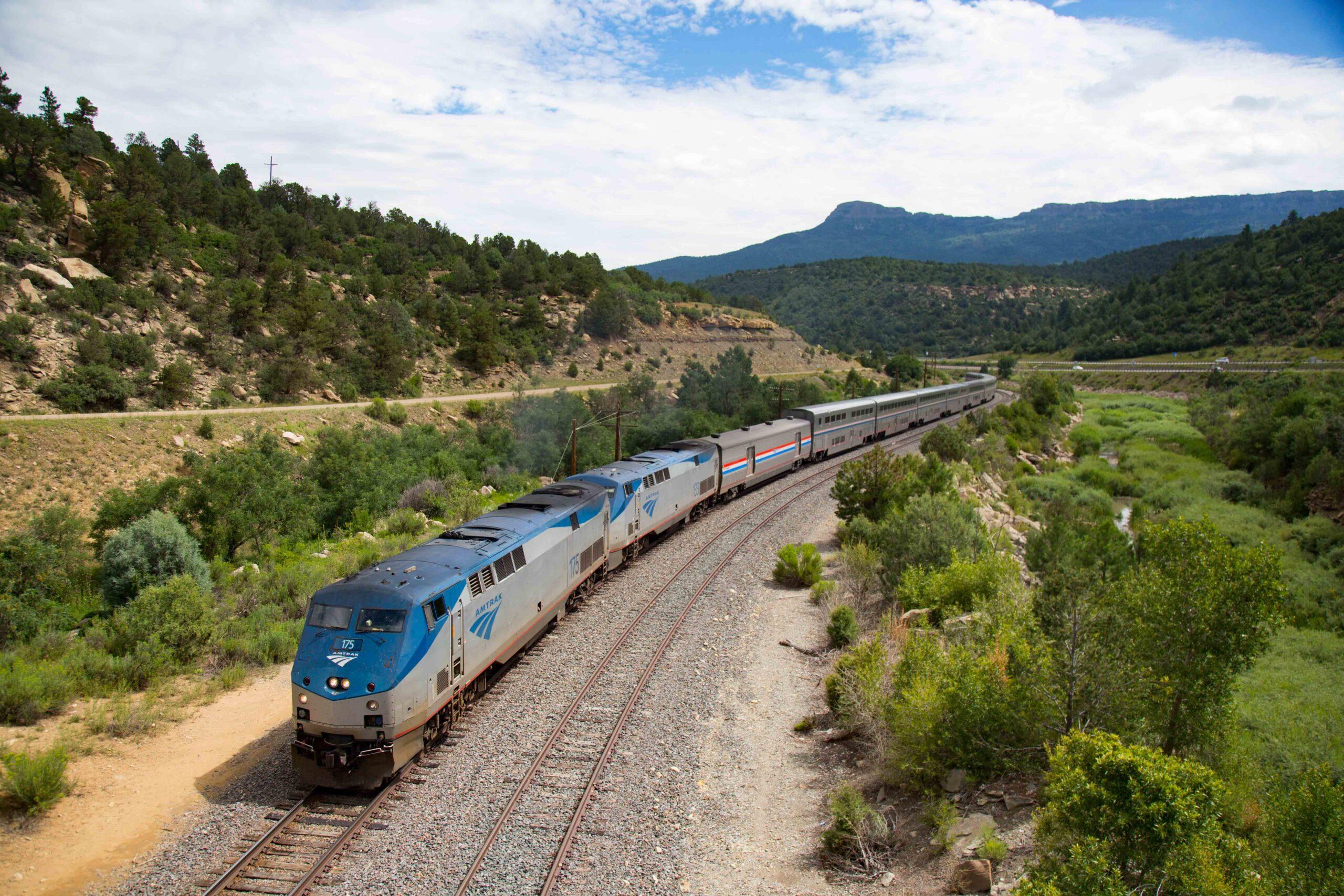 Amtrak Southwest Chief near Fishers Peak, Colorado