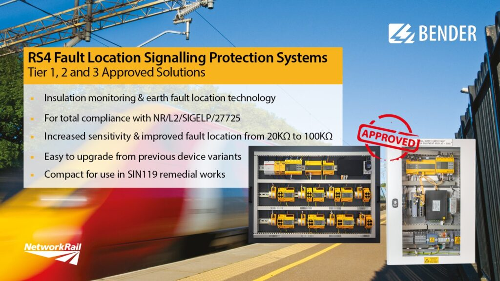 Bender UK RS4 Rail Signalling Power Protection System