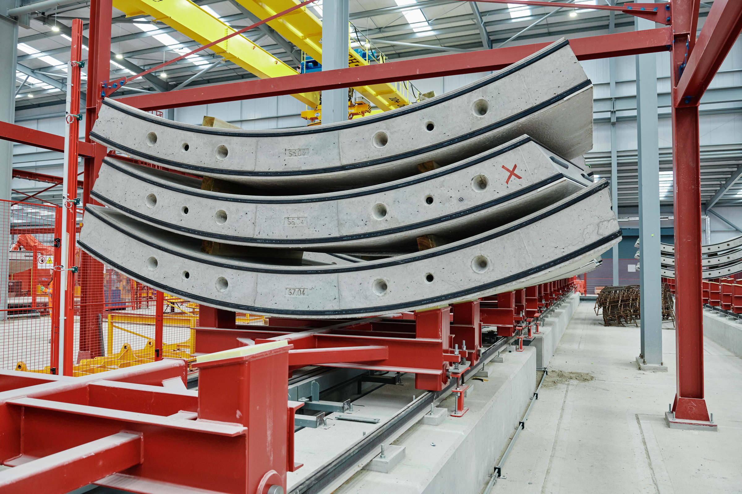 HS2 tunnel segments for the Chiltern tunnel