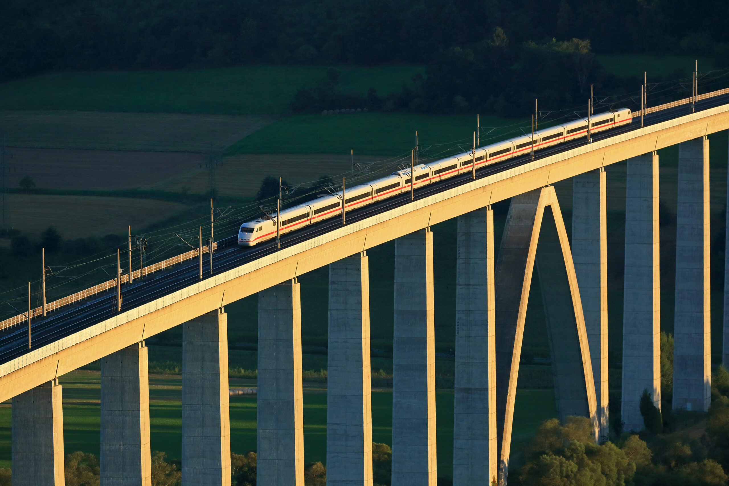 ICE 1 train on the high-speed route between Hanover and Würzburg