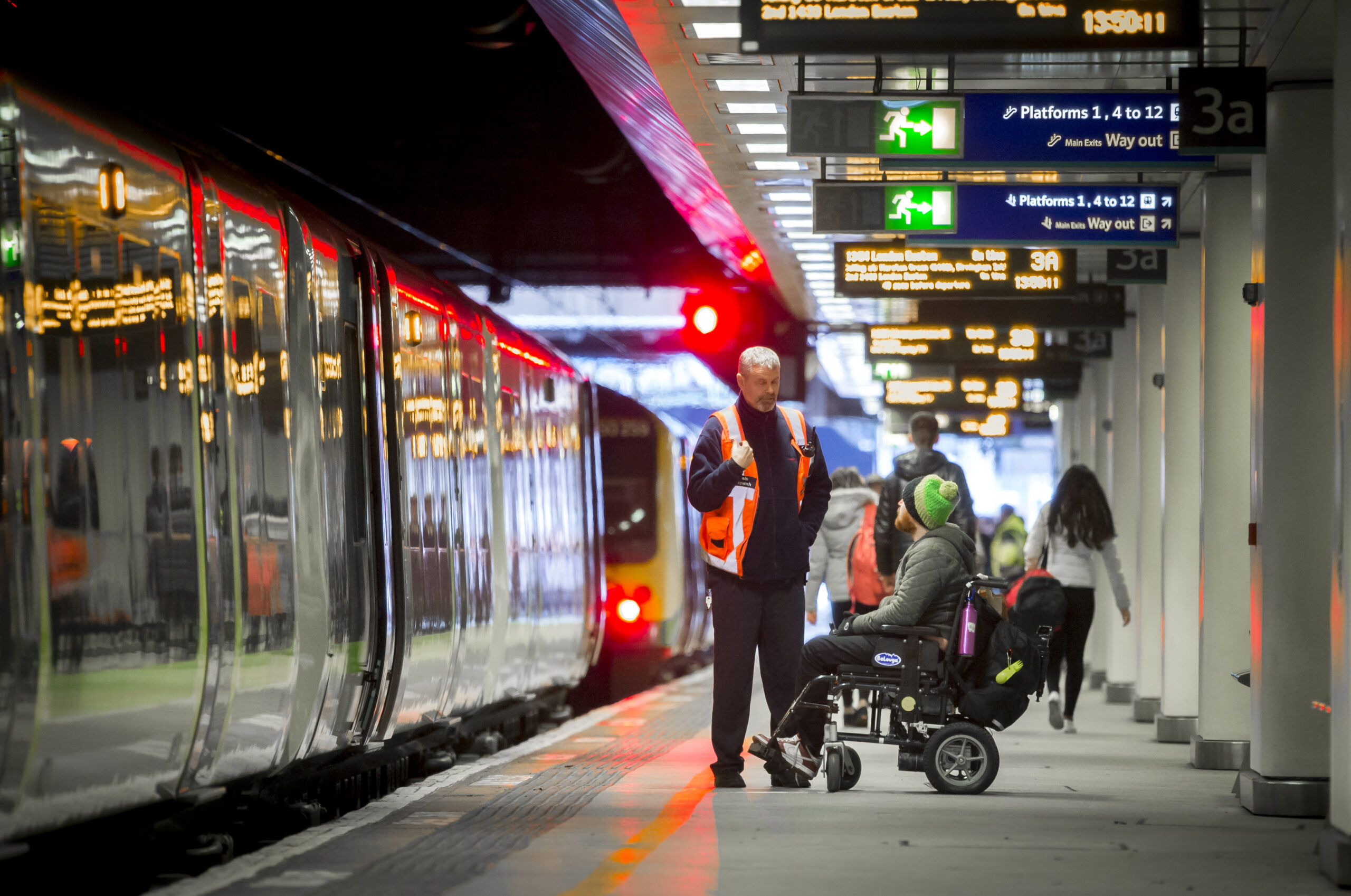 Accessibility training for train and station operators