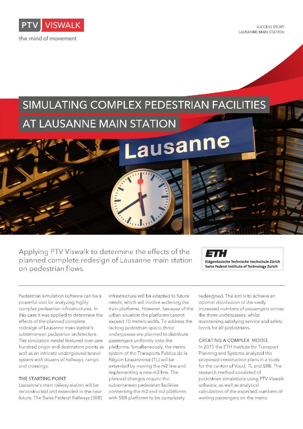 PTV Success Story: Lausanne Main Station