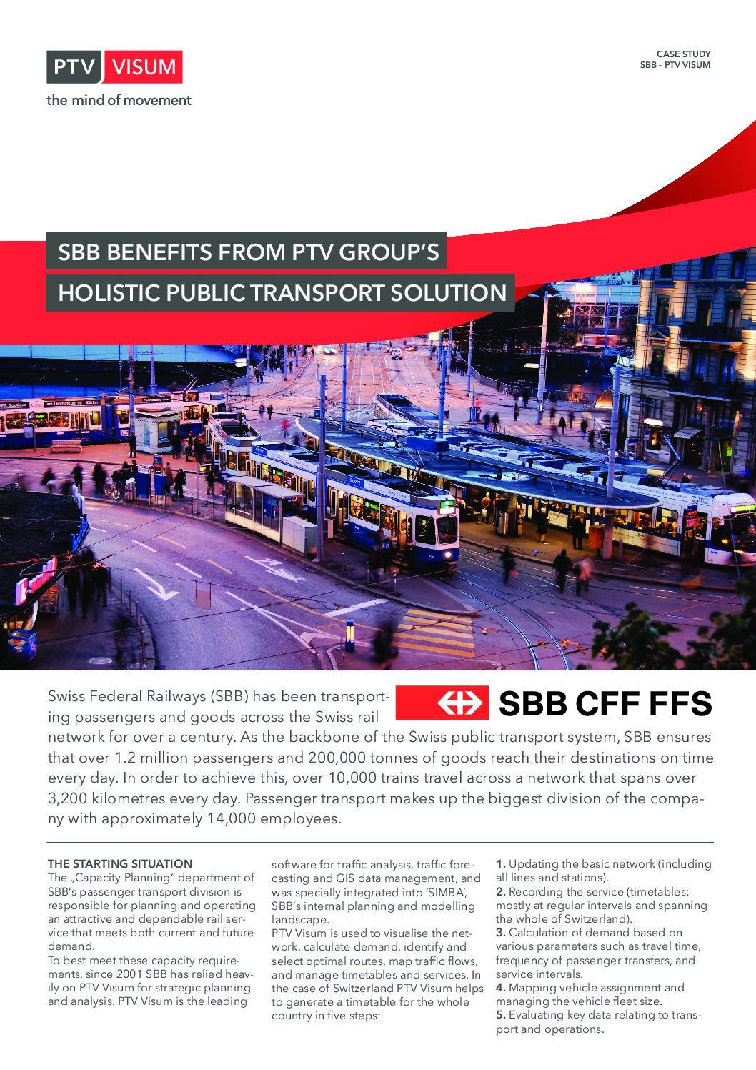 PTV Sucess Story: Swiss Federal Railways (SBB)