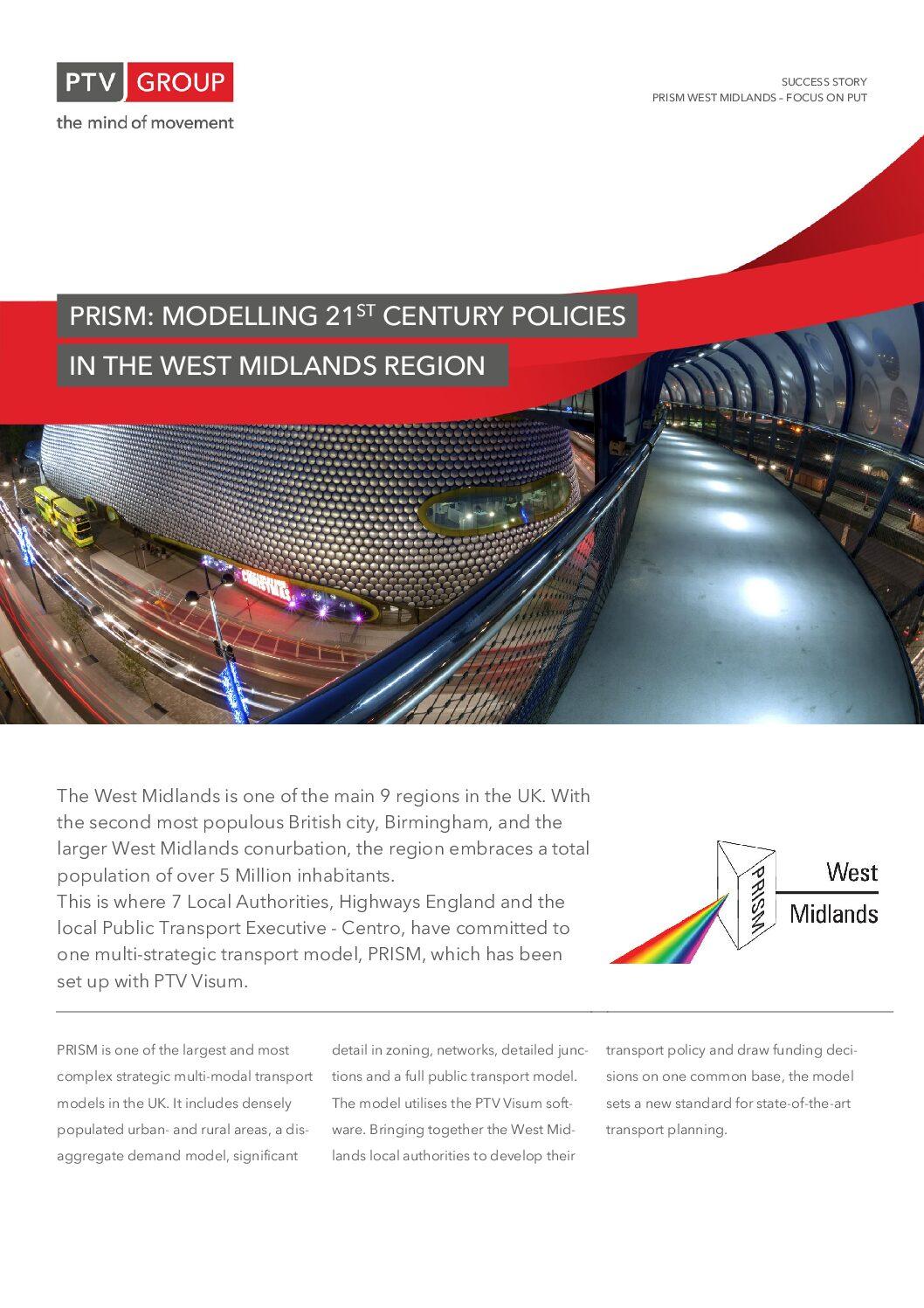PTV Visum Success Story: West Midlands