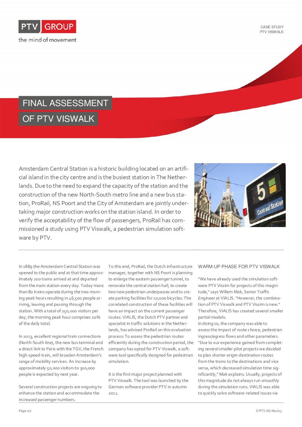 PTV Viswalk Success Story: ProRail Amsterdam