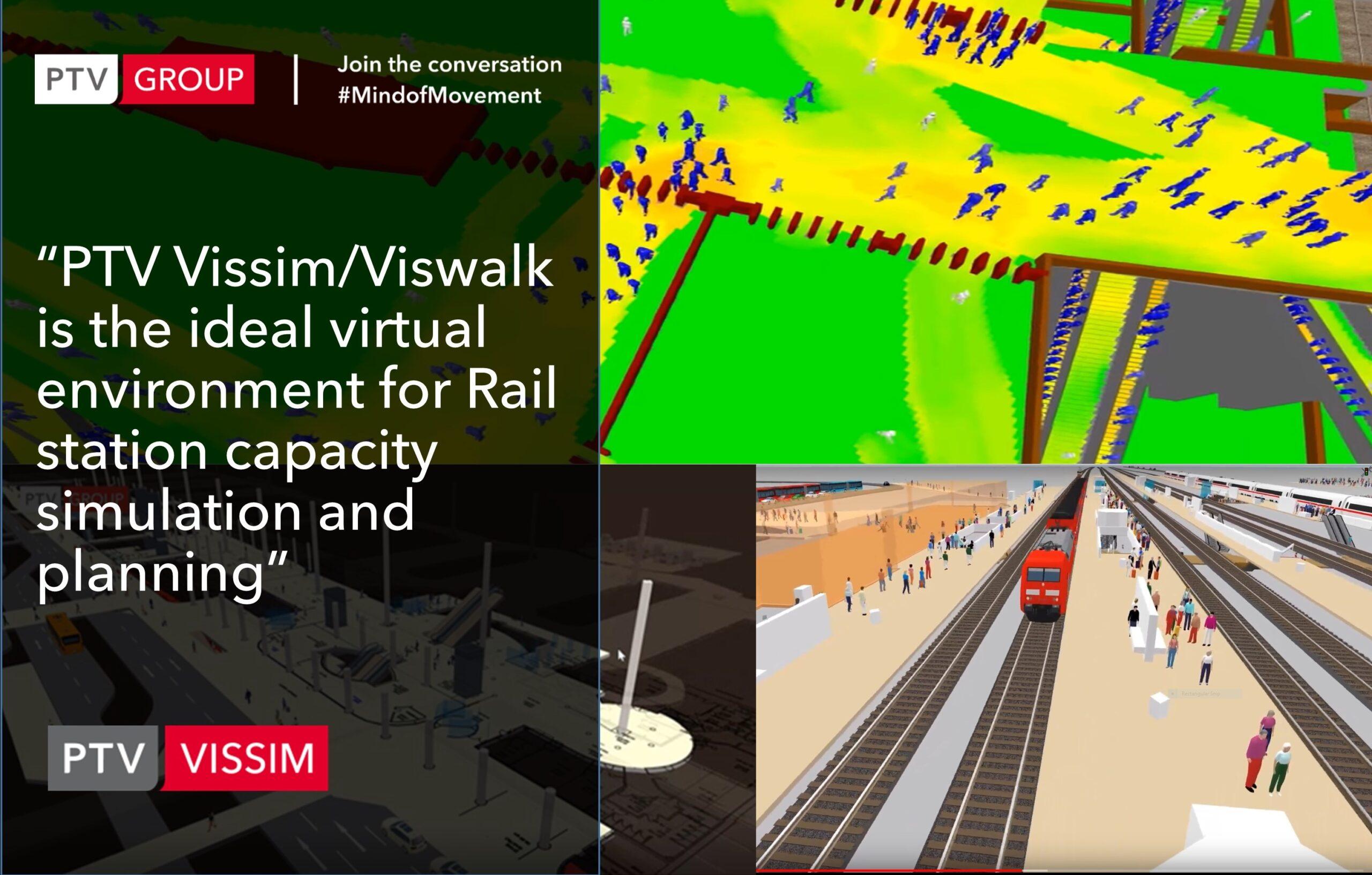 Vissim/Viswalk for Rail