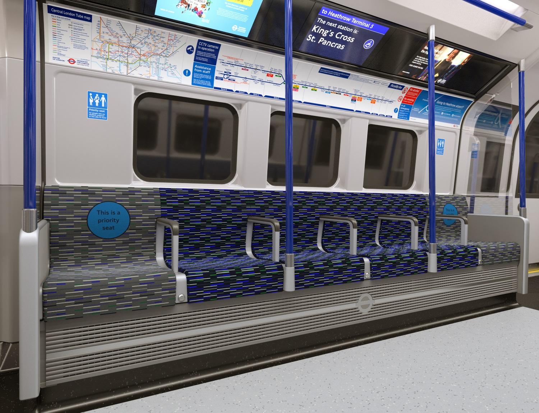 Interior of the new Inspiro London trains