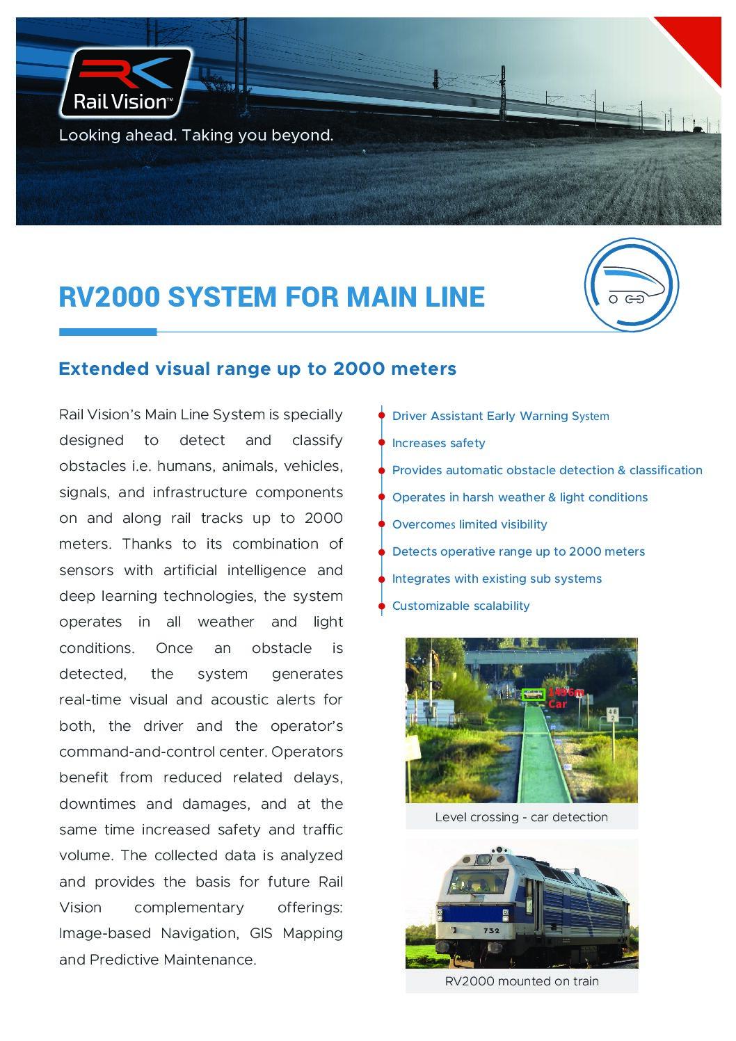 Rail Vision Main Line Fact Sheet