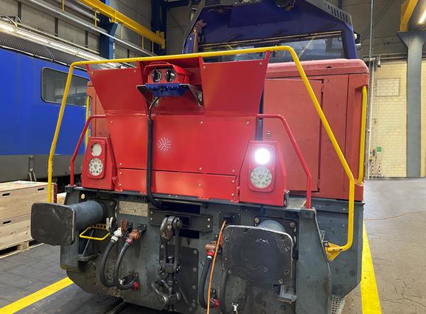 Rail Vision System on Shunting Yard Locomotive
