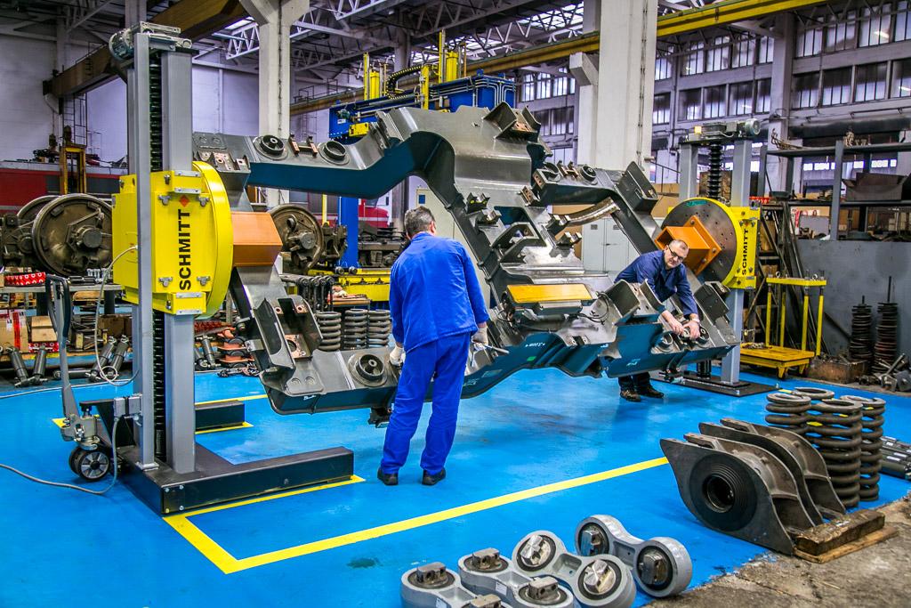 Inspection of Eurosprinter bogie