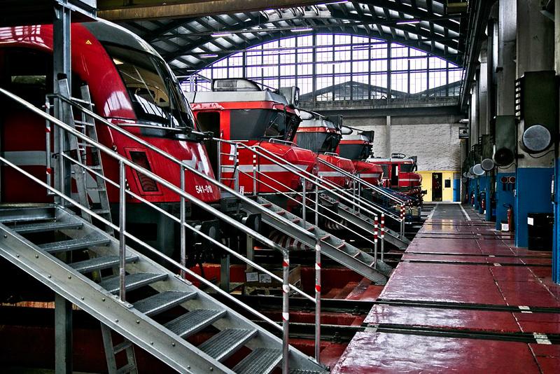 Electric locomotives in Ljubljana