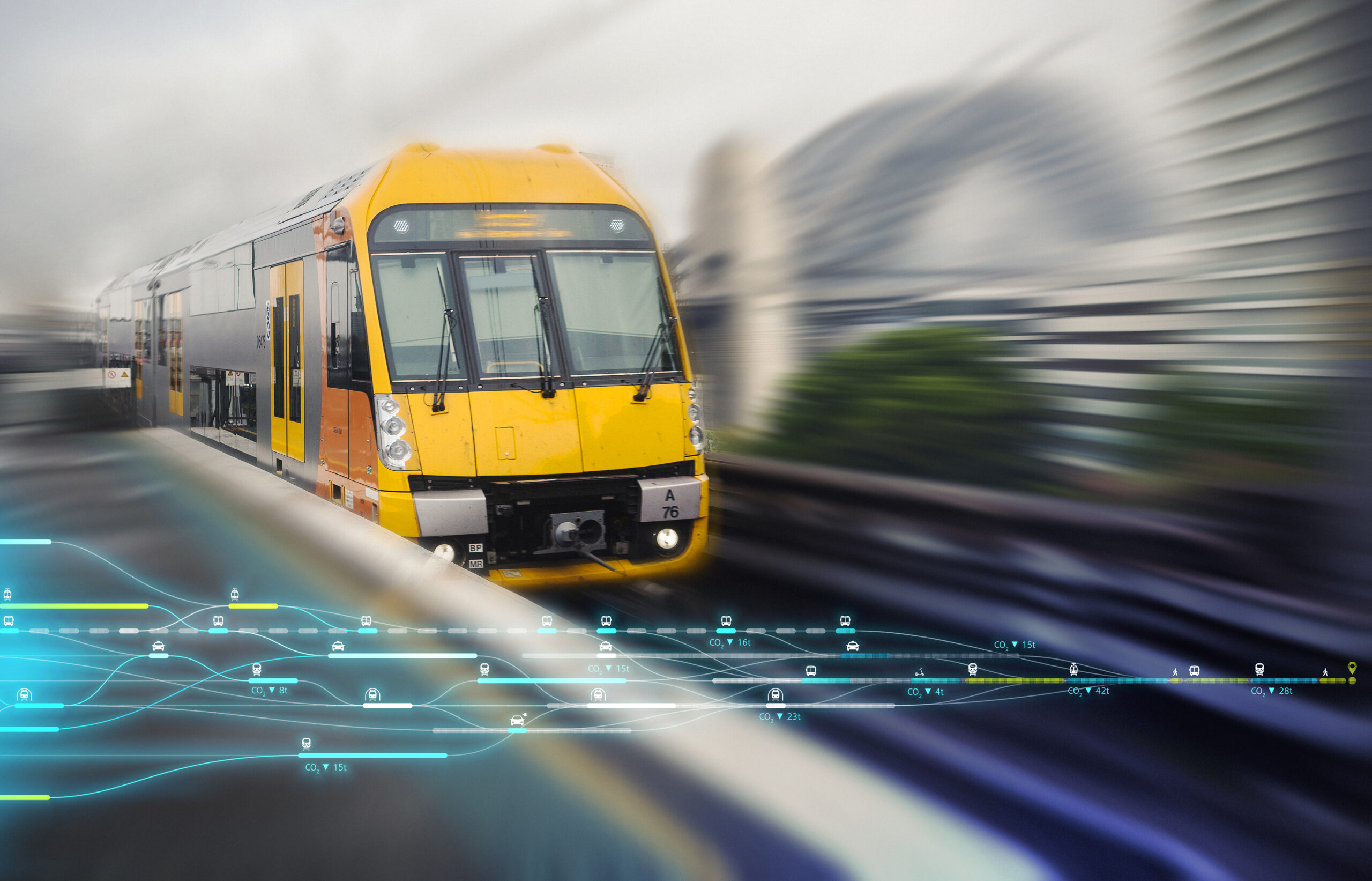 A train on Sydney's rail network