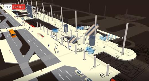 Vissim/Viswalk Pedestrian Friendly Station Design