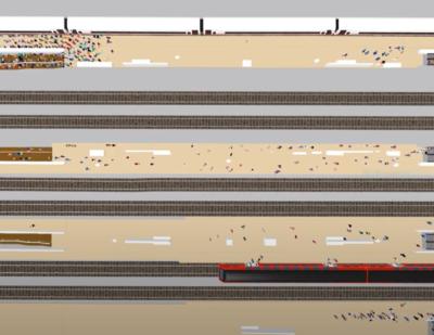 VissimViswalk_3_Rail_Station_Interchange