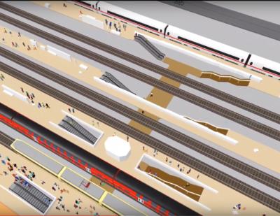 VissimViswalk_4_Rail_Station_Interchange