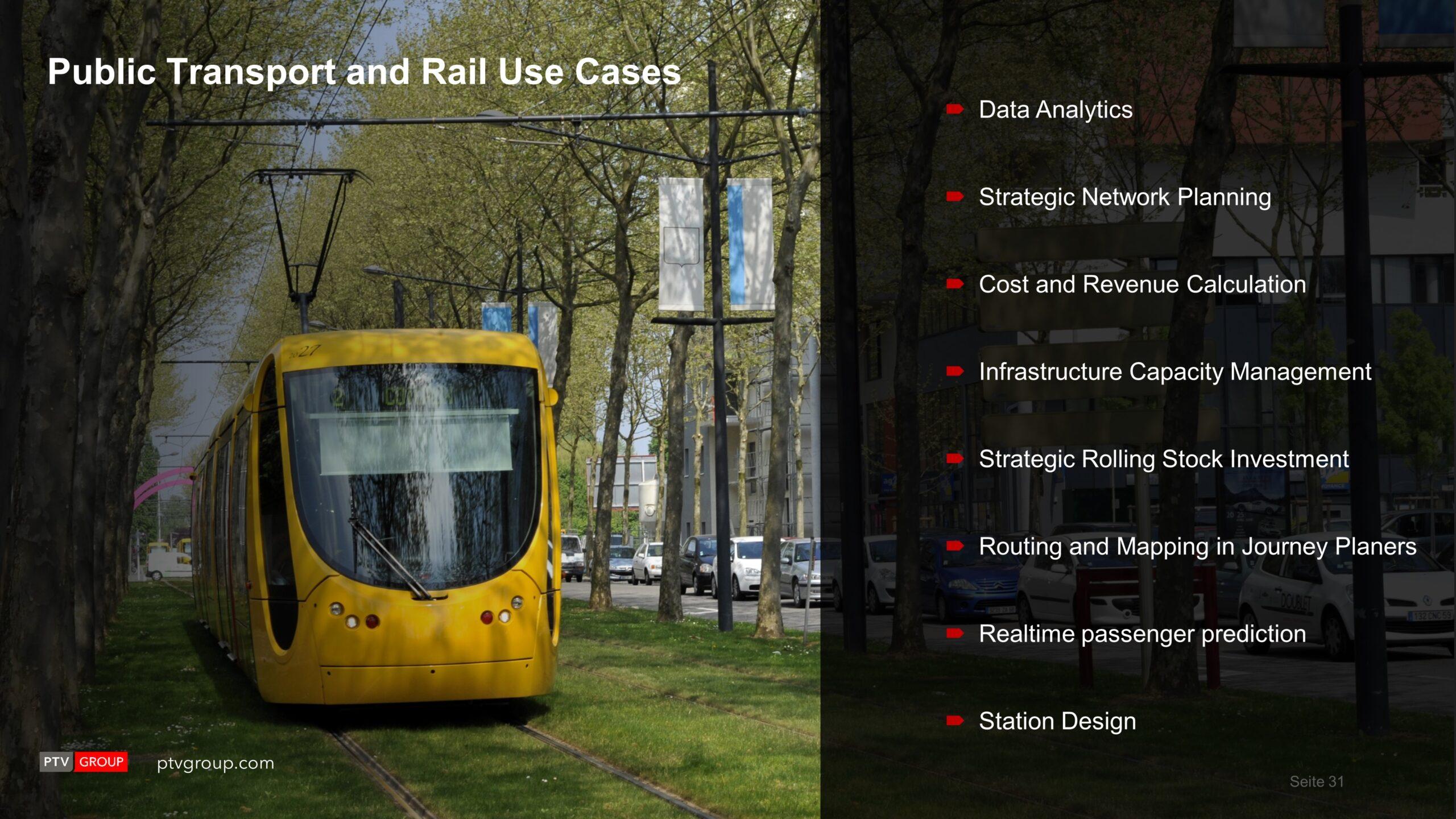 Visum Key Rail Planning Capabilities