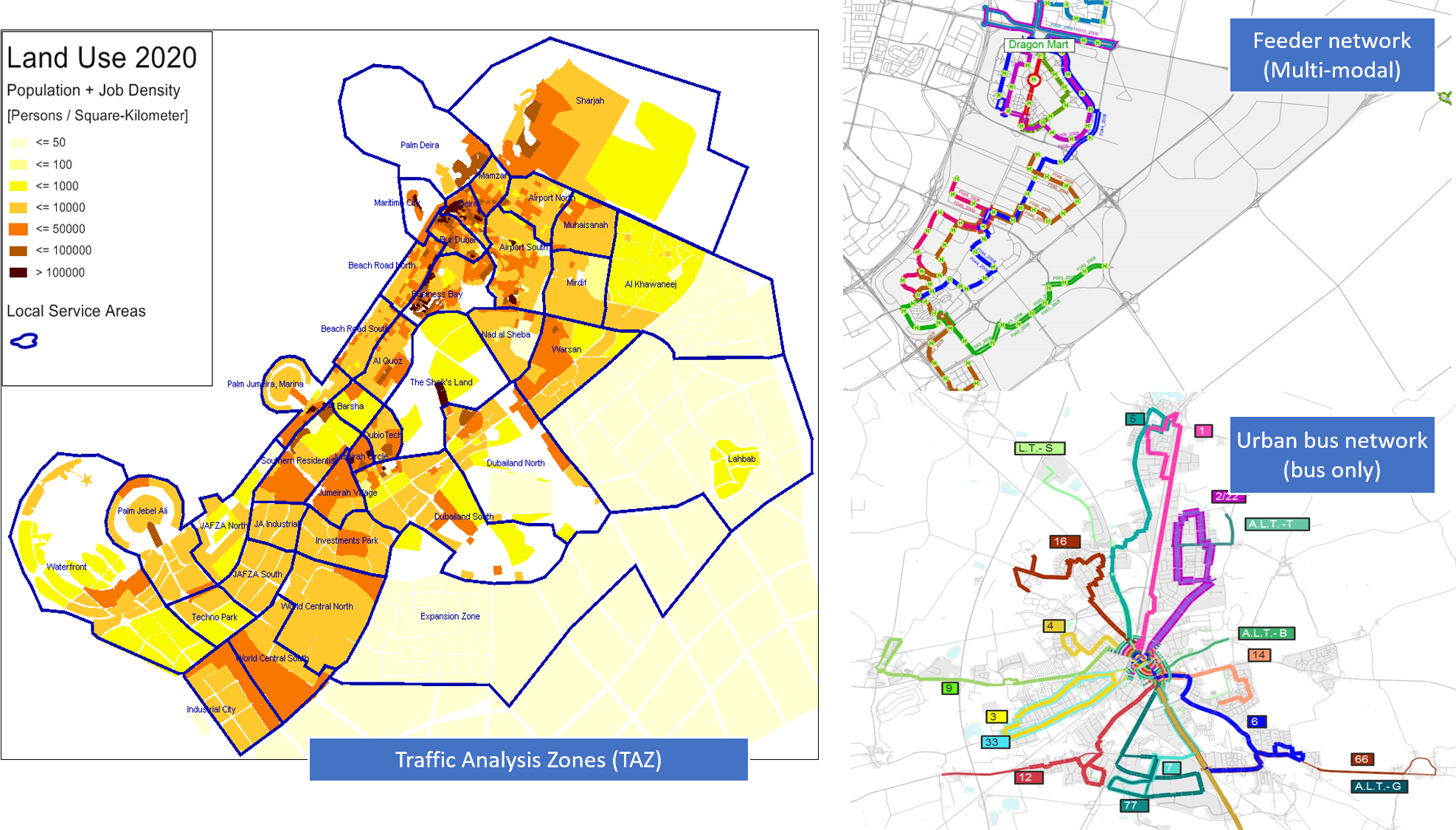 Visum Land Use and Network Relationship