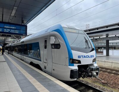 Stadler FLIRT Akku Battery Train Demonstrates 185km Range