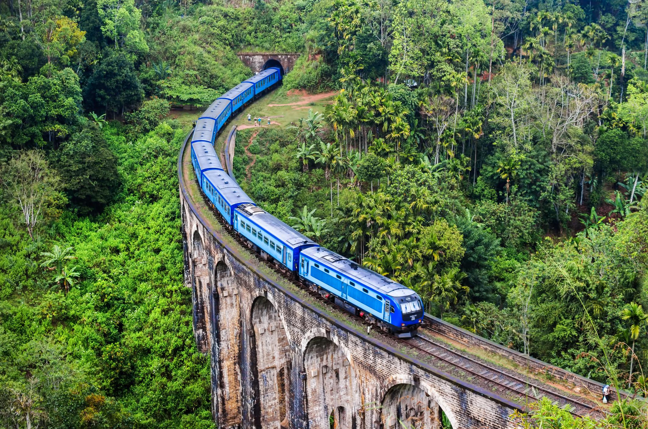 Train on Mountain, Nine Arch Bridge, Sri Lanka