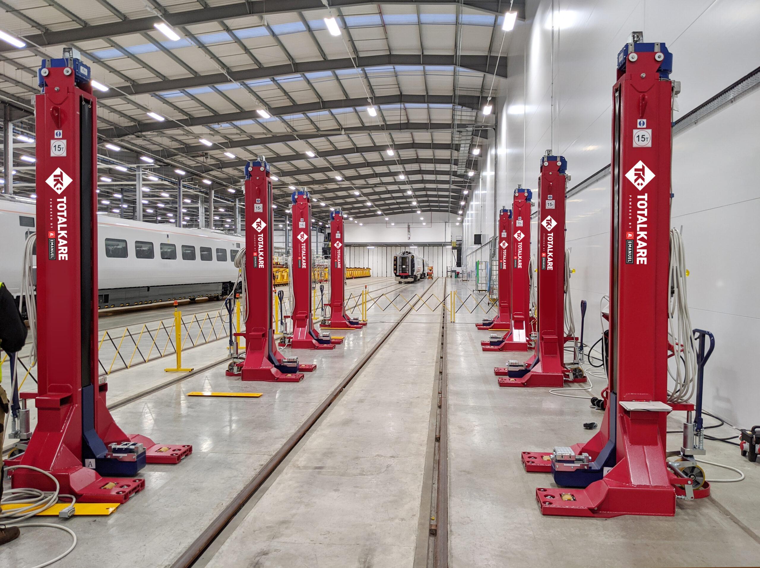 Totalkare railway lifting jacks, Hitachi